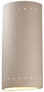 Justice Design CER-1195 Ambiance Cylinder Contemporary Ceramic LED Wall Lighting Fixture