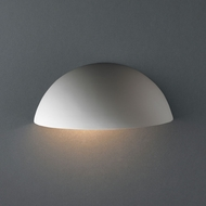 Justice Design CER-1300W Ambiance Small Quarter Sphere Modern Ceramic LED Outdoor Wall Light Fixture
