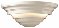 Justice Design CER-1555 Ambiance Supreme Contemporary Ceramic LED Wall Sconce Light