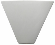 Justice Design CER-1860 Ambiance Trapezoid Corner Contemporary Ceramic LED Light Sconce