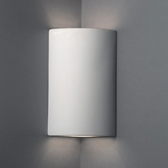 Justice Design CER-1885-BIS Ambiance Cylinder Contemporary Bisque LED Ceramic Wall Lighting