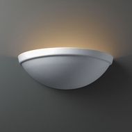 Justice Design CER-2050 Ambiance Rimmed Quarter Sphere Contemporary Ceramic LED Wall Sconce Lighting