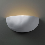 Justice Design CER-2190-BIS Ambiance Zia Modern Bisque LED Ceramic Wall Lighting Sconce