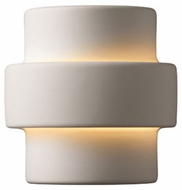 Justice Design CER-2205 Ambiance Small Step Modern Ceramic LED Wall Light Sconce