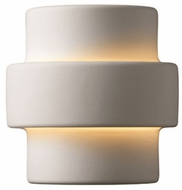 Justice Design CER-2205W Ambiance Small Step Contemporary Ceramic LED Outdoor Wall Lighting Fixture