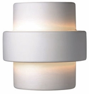 Justice Design CER-2215W Ambiance Large Step Contemporary Ceramic LED Outdoor Wall Sconce Light