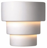 Justice Design CER-2225 Ambiance Small Terrace Modern Ceramic LED Wall Sconce