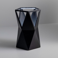 Justice Design CER-2430-CRB Portable Totem Contemporary Carbon Matte Black LED Accent Ceramic Table Lighting