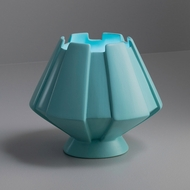 Justice Design CER-2440-RFPL Portable Meta Contemporary Reflecting Pool LED Accent Ceramic Table Top Lamp