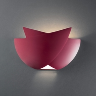 Justice Design CER-2500 Ambiance Fema Contemporary Ceramic LED Lighting Wall Sconce