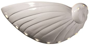 Justice Design CER-3720 Ambiance Abalone Shell Nautical Ceramic LED Wall Sconce Light