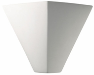 Justice Design CER-5130 Ambiance Trapezoid Contemporary Ceramic LED Wall Light Sconce