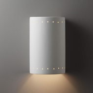 Justice Design CER-5290 Ambiance Large Cylinder Contemporary Ceramic LED Wall Light Fixture