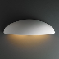 Justice Design CER-5300W Ambiance Canoe Contemporary Ceramic LED Outdoor Wall Light Sconce