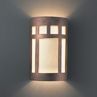 Justice Design CER-5345-ANTC Ambiance Small Prairie Window Contemporary Antique Copper LED Ceramic Wall Light Fixture