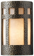 Justice Design CER-5350W Ambiance Large Prairie Window Contemporary Ceramic LED Outdoor Wall Sconce Light