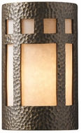 Justice Design CER-5355 Ambiance Large Prairie Window Contemporary Ceramic LED Wall Sconce