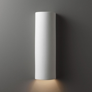 Justice Design CER-5400 Ambiance Tube Contemporary Ceramic LED Wall Lamp