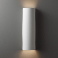 Justice Design CER-5405-BIS Ambiance Tube Contemporary Bisque LED Ceramic Wall Light Sconce