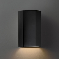 Justice Design CER-5500 Ambiance Flat Cylinder Contemporary Ceramic LED Wall Light Fixture