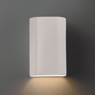 Justice Design CER-5500W Ambiance Flat Cylinder Modern Ceramic LED Outdoor Lighting Wall Sconce