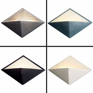 Justice Design CER-5600 Ambiance Contemporary LED Diamond Wall Sconce