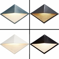 Justice Design CER-5600W Ambiance Modern LED Outdoor Diamond Downlight Wall Lamp