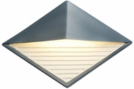 Justice Design CER-5600W Ambiance Diamond Contemporary Ceramic LED Outdoor Wall Light Sconce