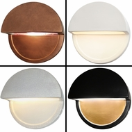 Justice Design CER-5610W Ambiance Modern LED Exterior Dome Closed Top Sconce Lighting