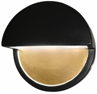 Justice Design CER-5610W Ambiance Dome Contemporary Ceramic LED Outdoor Wall Light Sconce