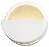 Justice Design CER-5615 Ambiance Dome Modern Ceramic LED Wall Sconce Light