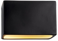 Justice Design CER-5640 Ambiance Small Rectangle Modern Ceramic LED Light Sconce