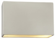 Justice Design CER-5640W Ambiance Small Rectangle Modern Ceramic LED Outdoor Lighting Sconce