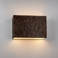 Justice Design CER-5655 Ambiance Large Rectangle Contemporary Ceramic LED Wall Lighting Sconce