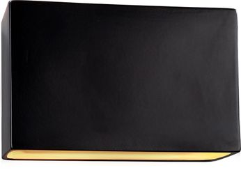 Justice Design CER-5658-CRB Ceramic Ambiance Contemporary Carbon Matte Black LED 16.5 Wall Lighting Fixture