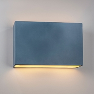 Justice Design CER-5659W-MID Ambiance Wide Rectangle Contemporary Midnight Sky LED Exterior Ceramic Wall Mounted Lamp