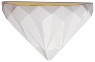 Justice Design CER-5660 Ambiance Geometric Modern Ceramic LED Wall Sconce Light
