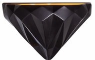 Justice Design CER-5660-CBGD Ambiance Contemporary Carbon Matte Black / Champagne Gold LED Lighting Sconce