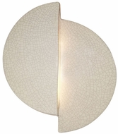 Justice Design CER-5675 Ambiance Offset Circle Modern Ceramic LED Wall Lamp