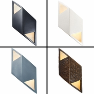 Justice Design CER-5835 Ambiance Modern LED Small Rhomboid Lighting Wall Sconce