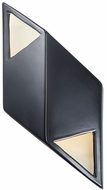 Justice Design CER-5835 Ambiance Small Rhomboid Modern Ceramic LED Wall Light Fixture