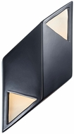 Justice Design CER-5839 Ambiance Small Rhomboid Modern Ceramic LED Lighting Wall Sconce