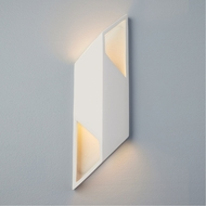 Justice Design CER-5849 Ambiance Small Rhomboid Modern Ceramic LED Wall Sconce Lighting