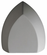Justice Design CER-5850W Ambiance Large Ambis Contemporary Ceramic LED Outdoor Wall Light Sconce