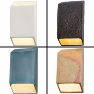 Justice Design CER-5860 Ambiance Modern LED Small Tapered Rectangle Closed Top Wall Sconce Lighting