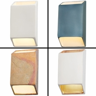 Justice Design CER-5865 Ambiance Modern LED Small Tapered Rectangle Open Top & Bottom Wall Light Sconce