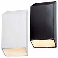 Justice Design CER-5870W Ambiance Modern LED Outdoor Large Tapered Rectangle Closed Top Wall Light Sconce