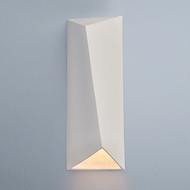 Justice Design CER-5897W-BIS Ambiance Large Diagonal Rectangle Modern Bisque LED Exterior Ceramic Wall Sconce Lighting