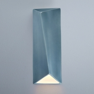 Justice Design CER-5897W-MID Ambiance Large Diagonal Rectangle Modern Midnight Sky LED Outdoor Ceramic Wall Lighting Sconce