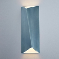 Justice Design CER-5899-MDMT Ambiance Large Diagonal Rectangle Contemporary Midnight Sky with Matte White LED Ceramic Wall Light Sconce